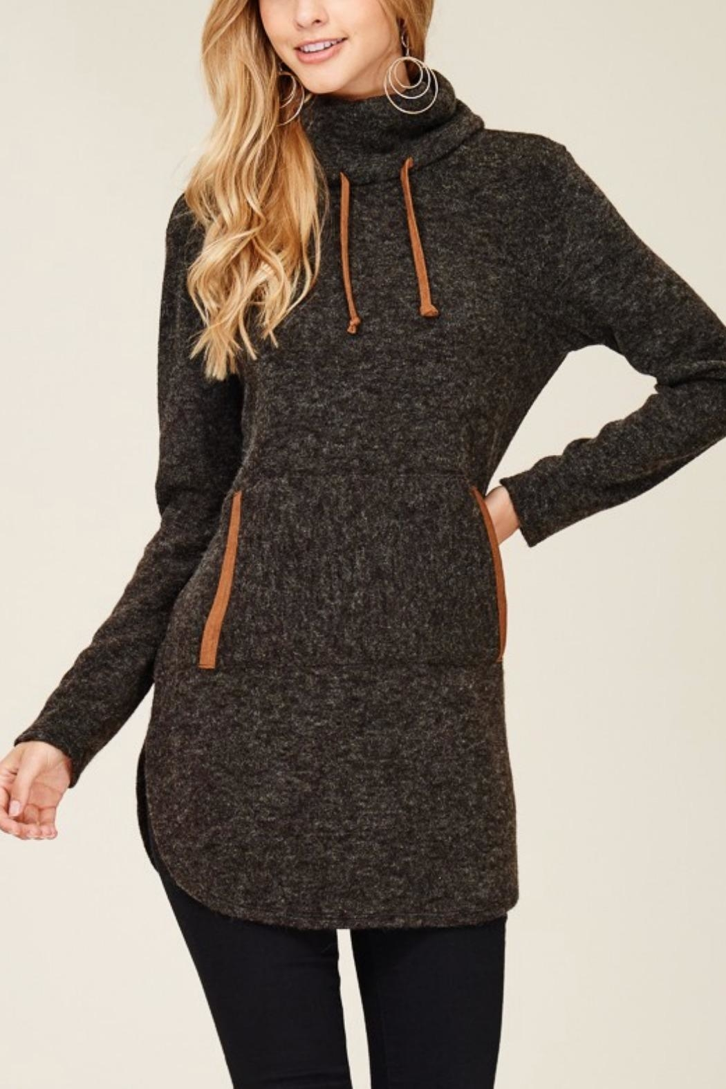 Hailey & Co. Highneck Sweater Tunic - Front Cropped Image