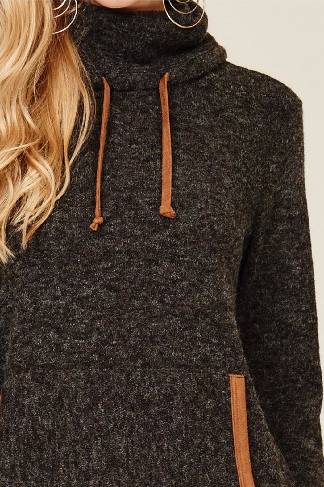 Hailey & Co. Highneck Sweater Tunic - Front Full Image