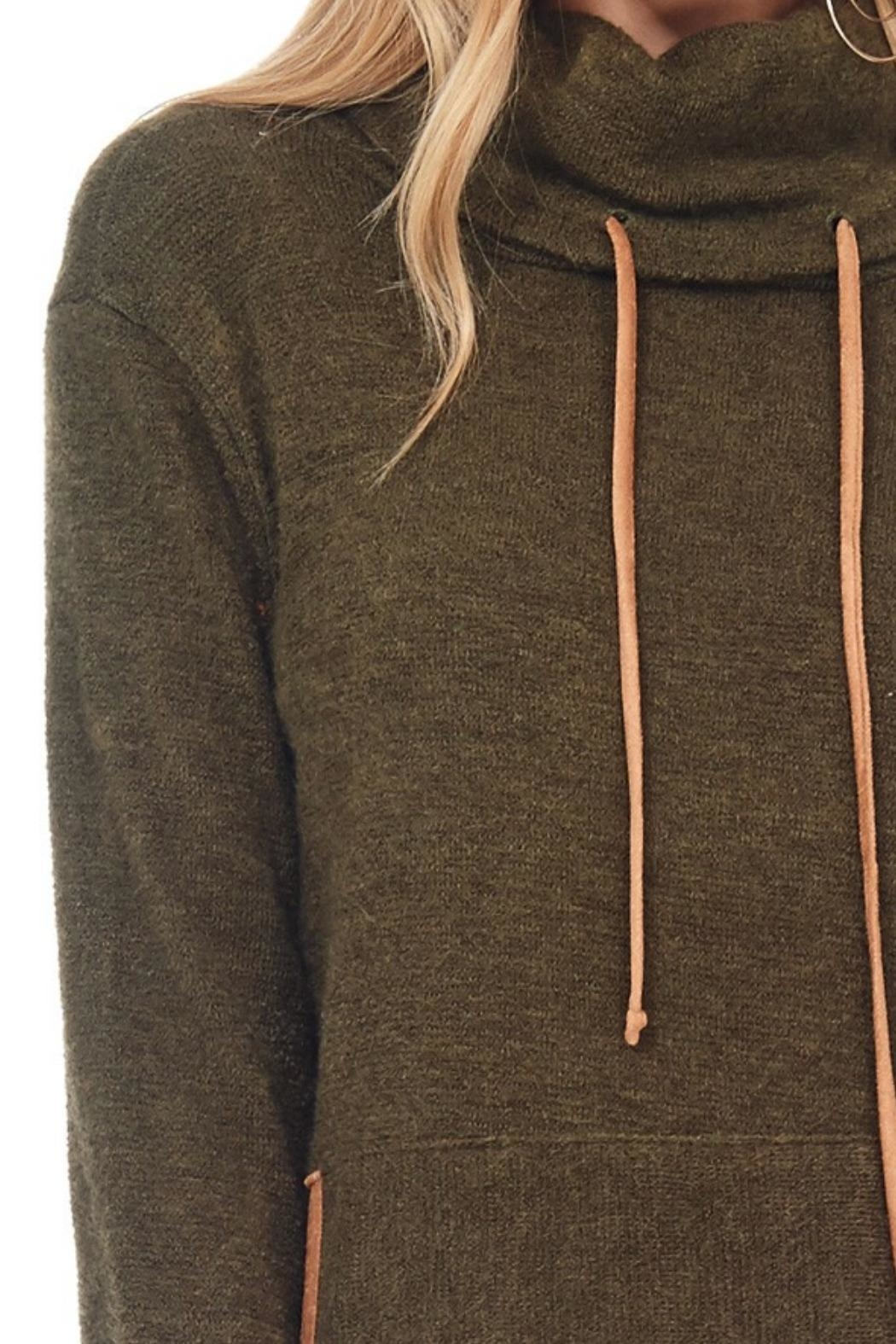 Hailey & Co. Highneck Sweater Tunic - Back Cropped Image