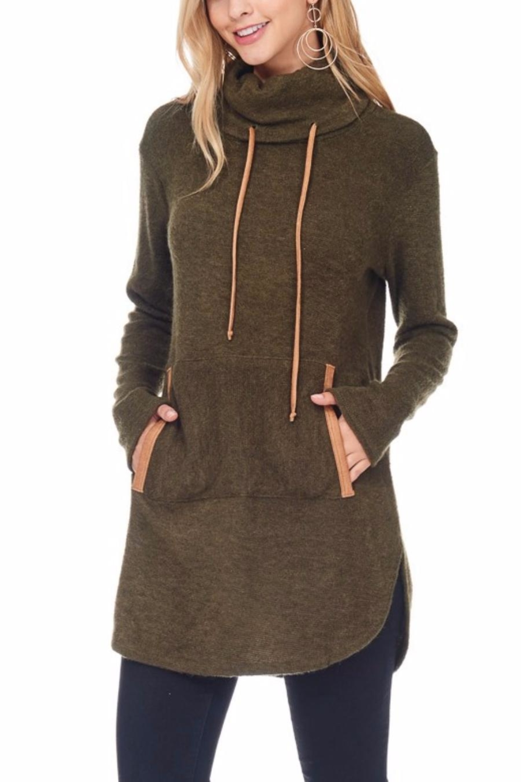 Hailey & Co. Highneck Sweater Tunic - Main Image