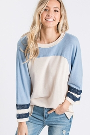 Hailey & Co Color Block Top - Product Mini Image