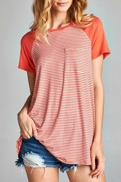 Shoptiques Product: Coral Striped Top