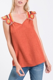 Hailey & Co Crochet Trim Top - Product Mini Image