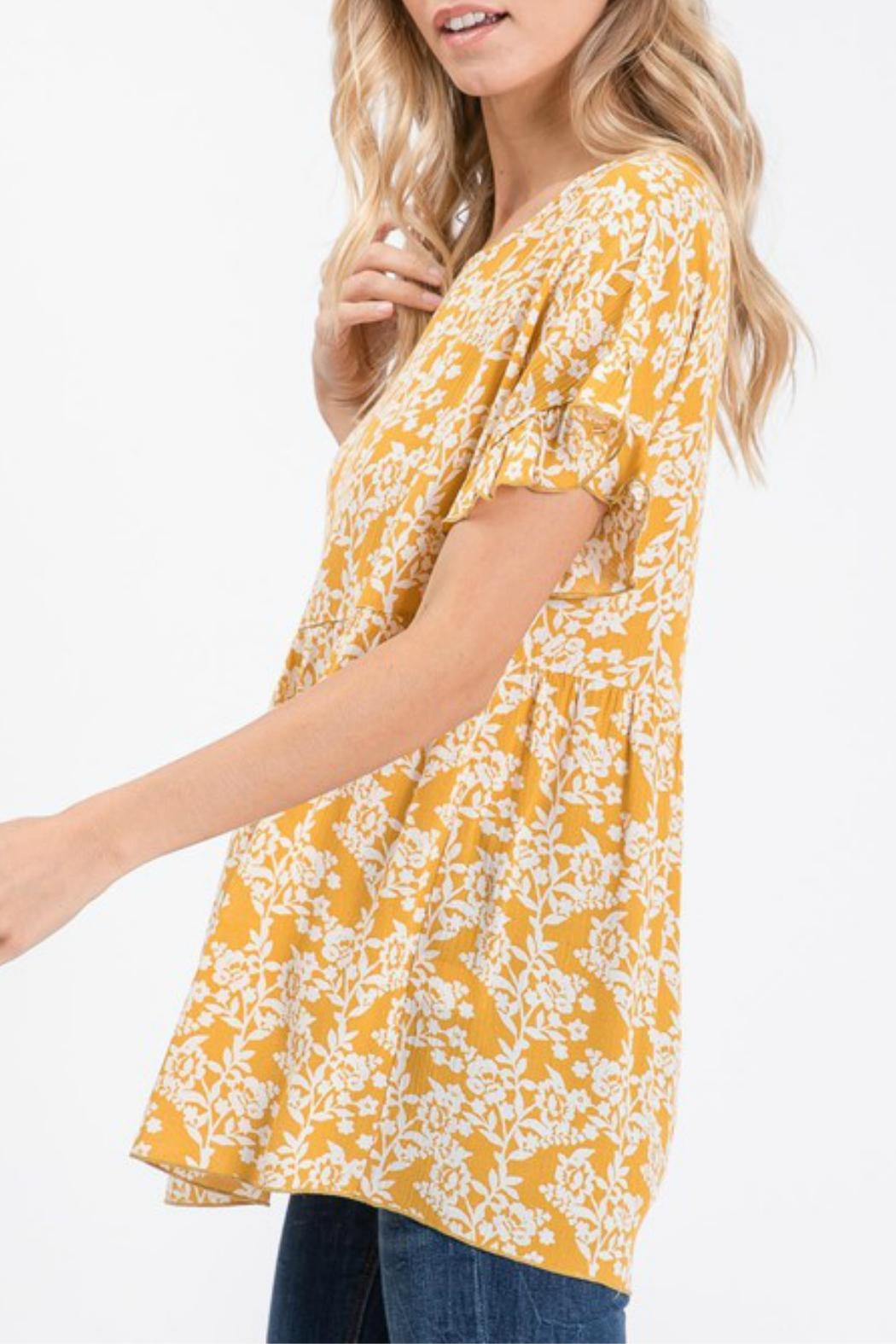 Hailey & Co Floral Babydoll - Side Cropped Image