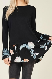 Hailey & Co Floral Ruffle Top - Product Mini Image