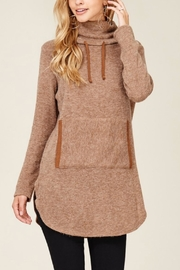 Hailey & Co Highneck Sweater Tunic - Side cropped