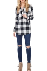 Hailey & Co Plaid Top - Product Mini Image
