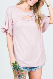 Hailey & Co Ruffle Detail Top - Product Mini Image
