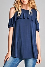 Hailey & Co Shoulder Ruff Top - Front cropped
