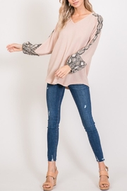 Hailey & Co Snakeskin Top - Product Mini Image