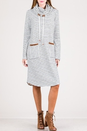 Hailey & Co Striped Turtleneck Dress - Product Mini Image