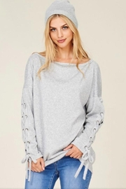 Hailey & Co Sweatshirt With Ties. - Product Mini Image