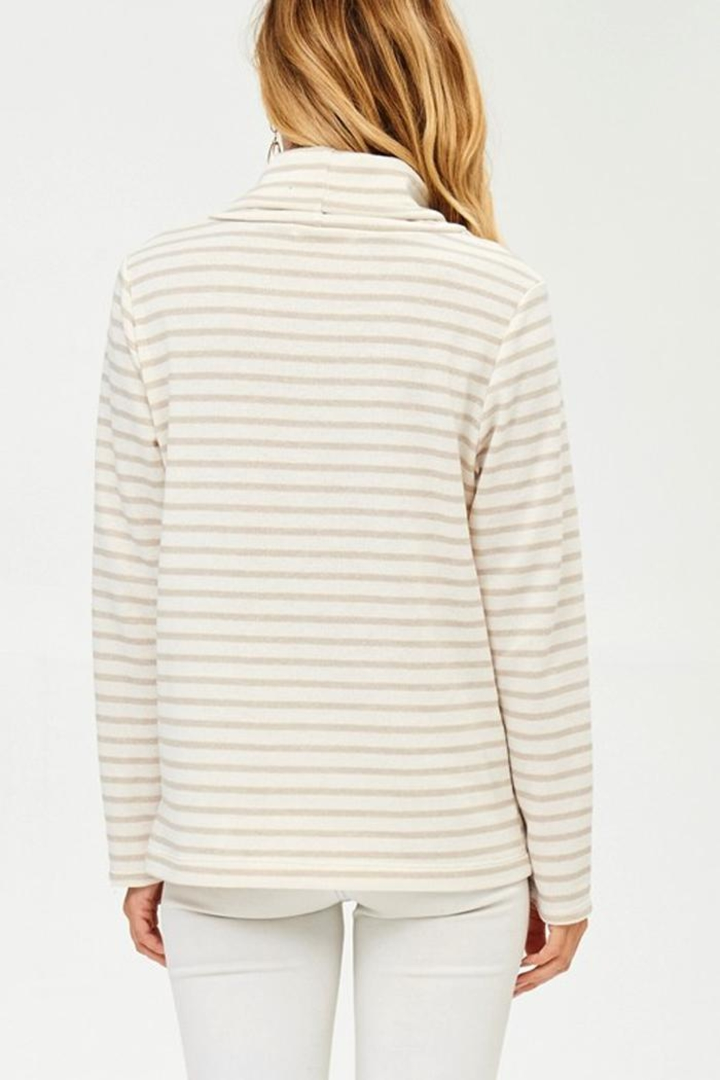 Hailey & Co Winter White Sweatshirt - Back Cropped Image