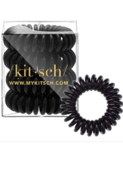 Kitsch Hair Coils - 4 Pack, Black - Product Mini Image