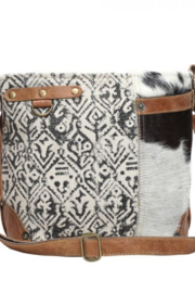 Myra Bag HAIRON AND COTTON RUG SHOULDER BAG - Product Mini Image