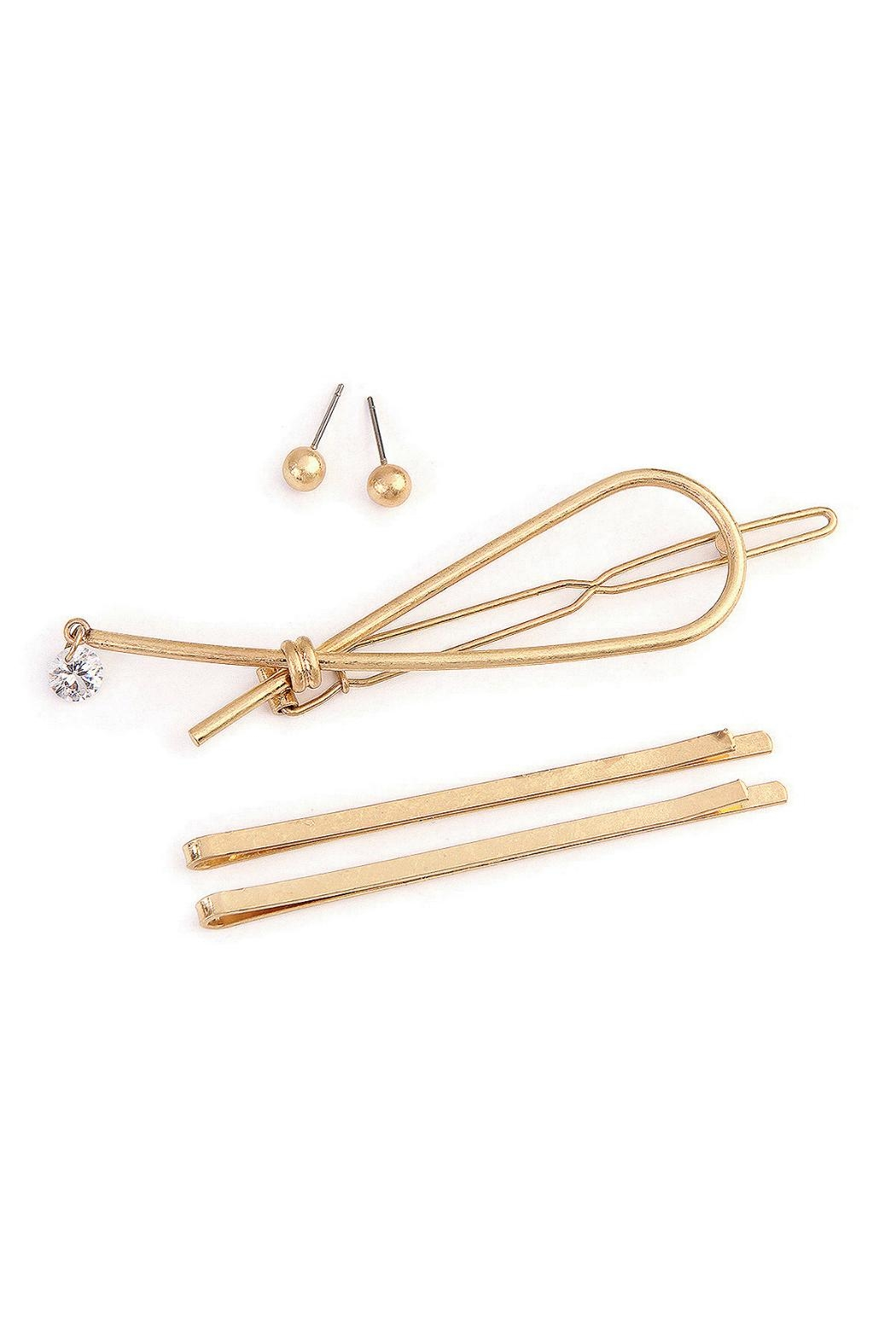 Crystal Avenue Hairpin Earring Set - Main Image