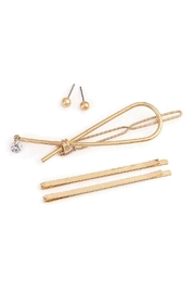Crystal Avenue Hairpin Earring Set - Product Mini Image