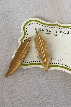 Amano Trading Hairpin Feather Set of Two - Alternate List Image