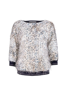 Dame Blanche Anvers Hairy Leopard Sweater - Product List Image