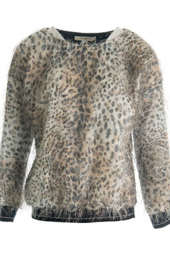 Dame Blanche Anvers Hairy Leopard Sweater - Alternate List Image