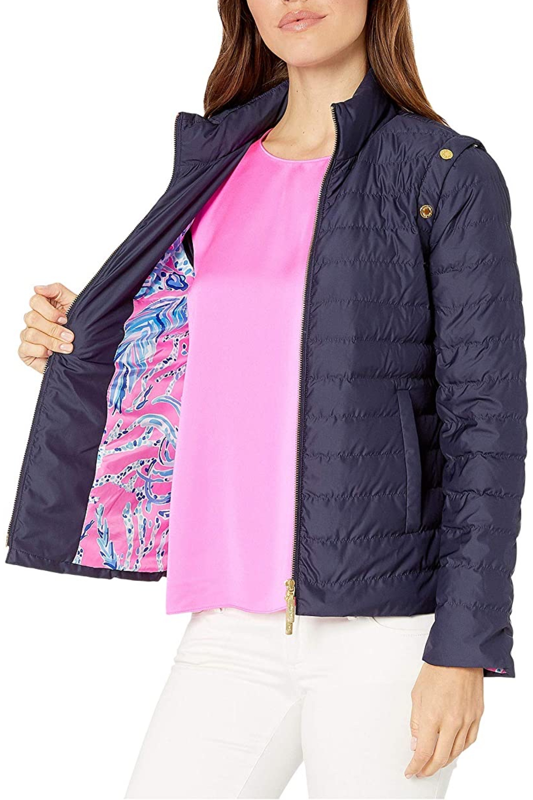 Lilly Pulitzer  Haisley puffer jacket - Back Cropped Image