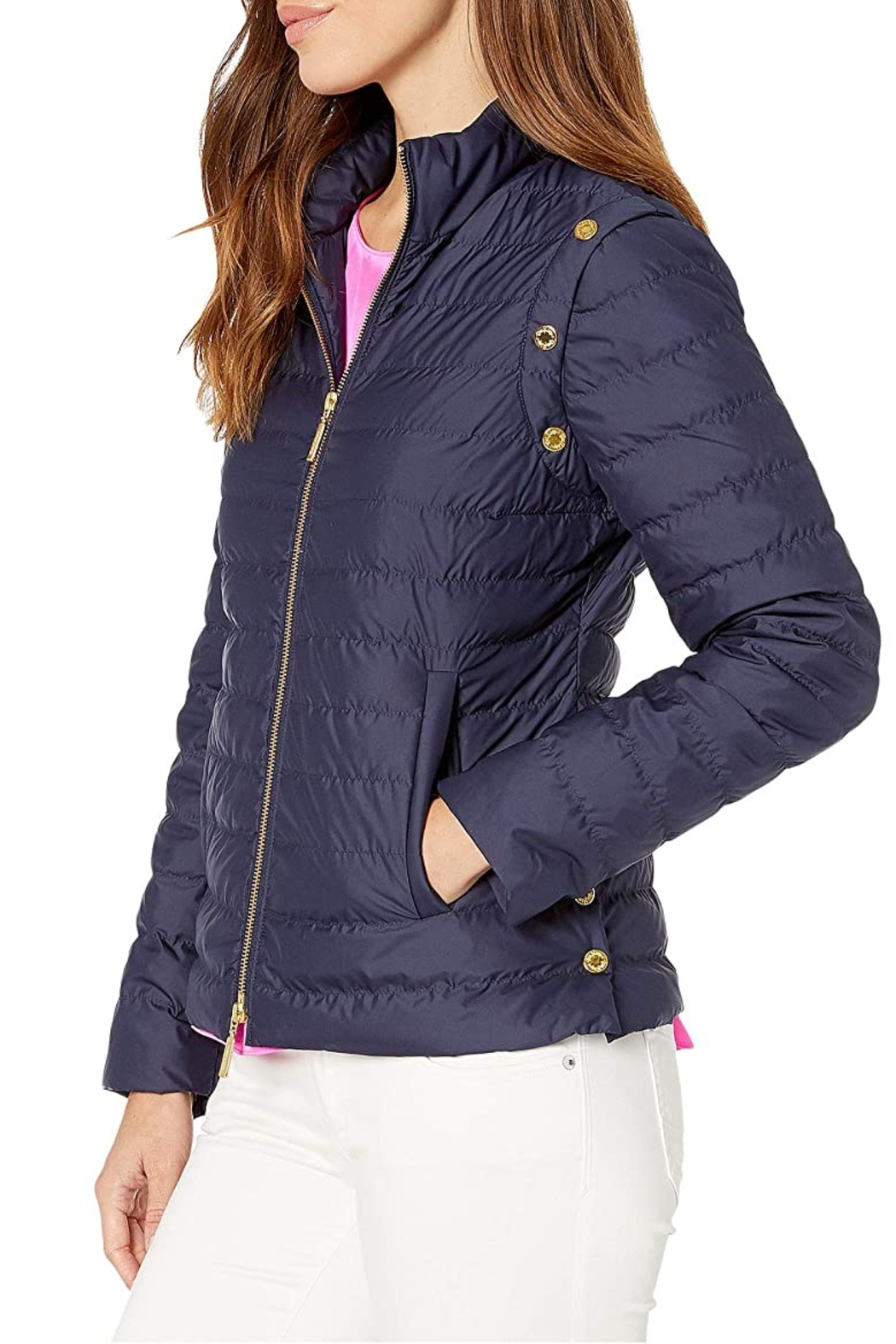 Lilly Pulitzer  Haisley puffer jacket - Front Full Image