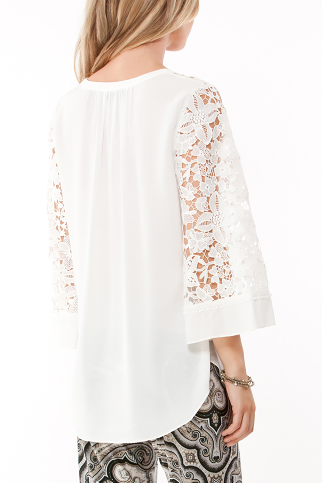 Hale Bob Fiorelli Lace Top - Back Cropped Image