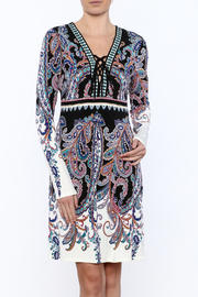 Hale Bob Long Sleeved Paisley Print Dress - Product Mini Image