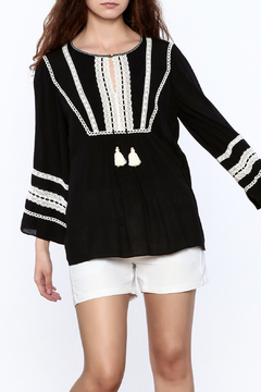 Shoptiques Product: Black Embroidered Tunic Top