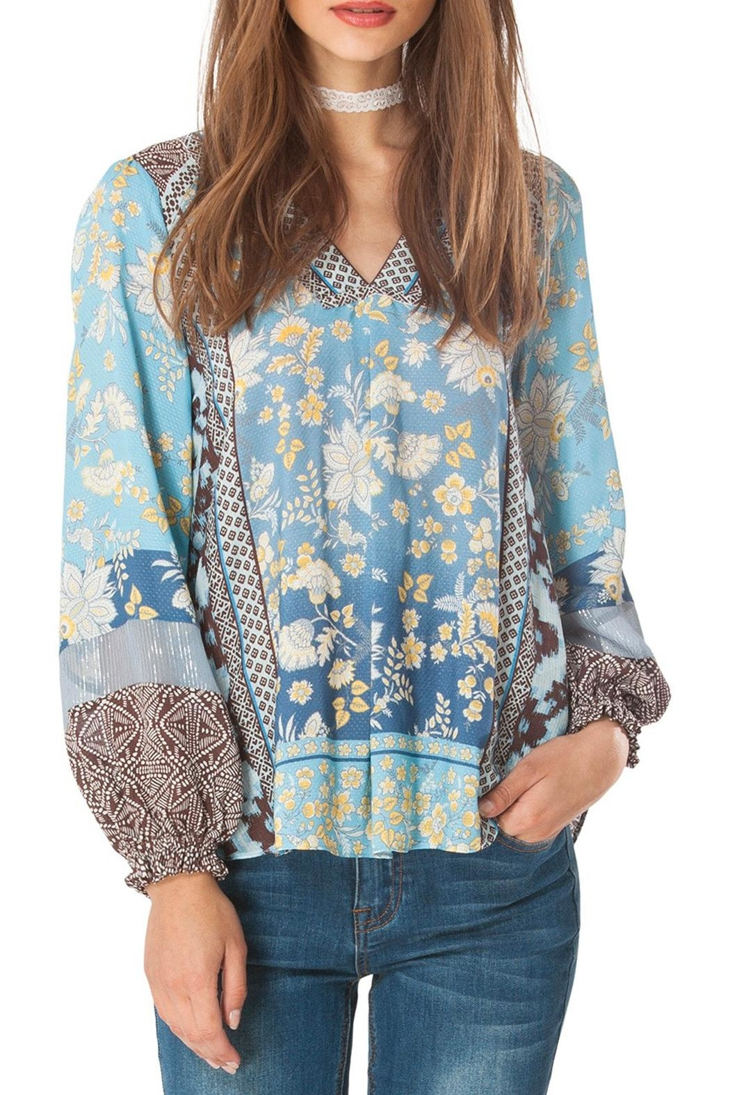 Hale Bob Athena Floral Tunic Top - Front Cropped Image