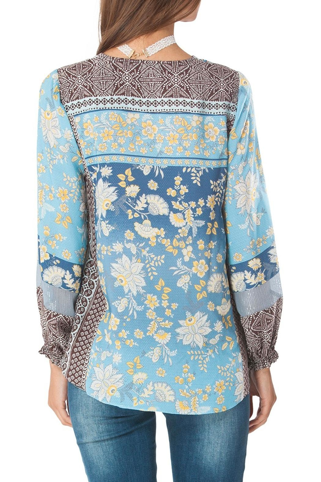 Hale Bob Athena Floral Tunic Top - Front Full Image