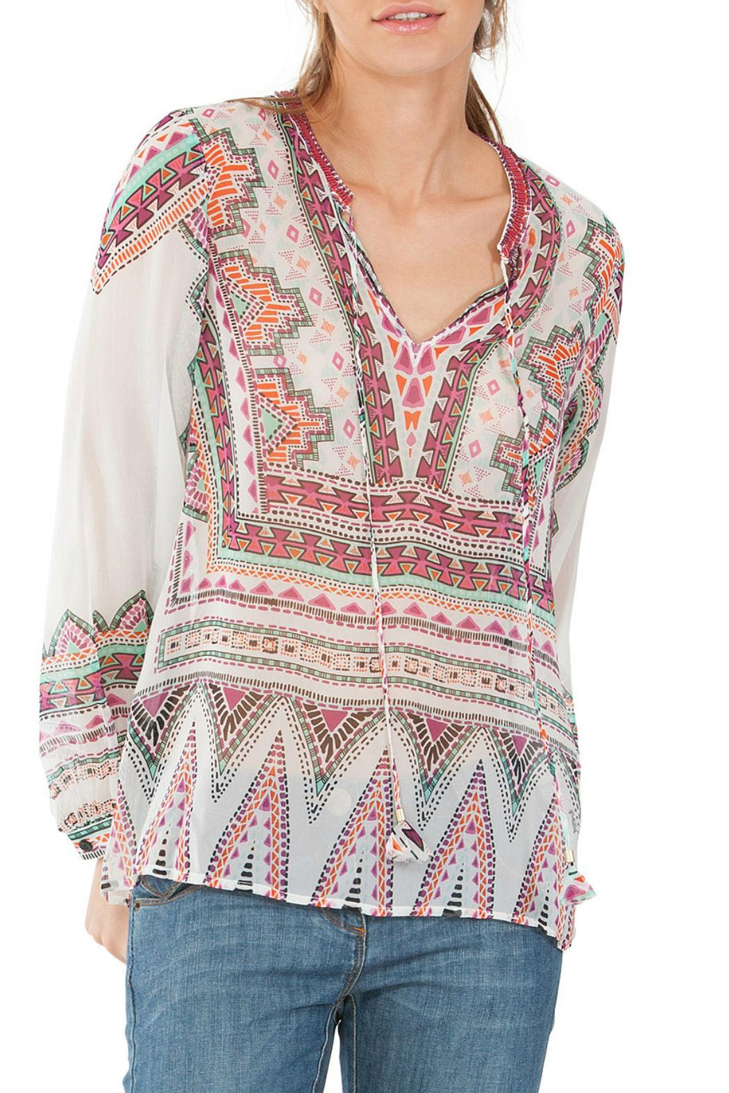 Hale Bob Beaded Tunic - Front Cropped Image