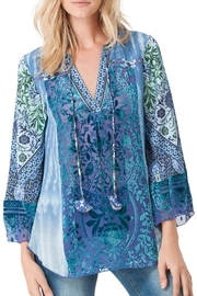 Hale Bob Jasmine Silk Burnout Blouse - Product Mini Image