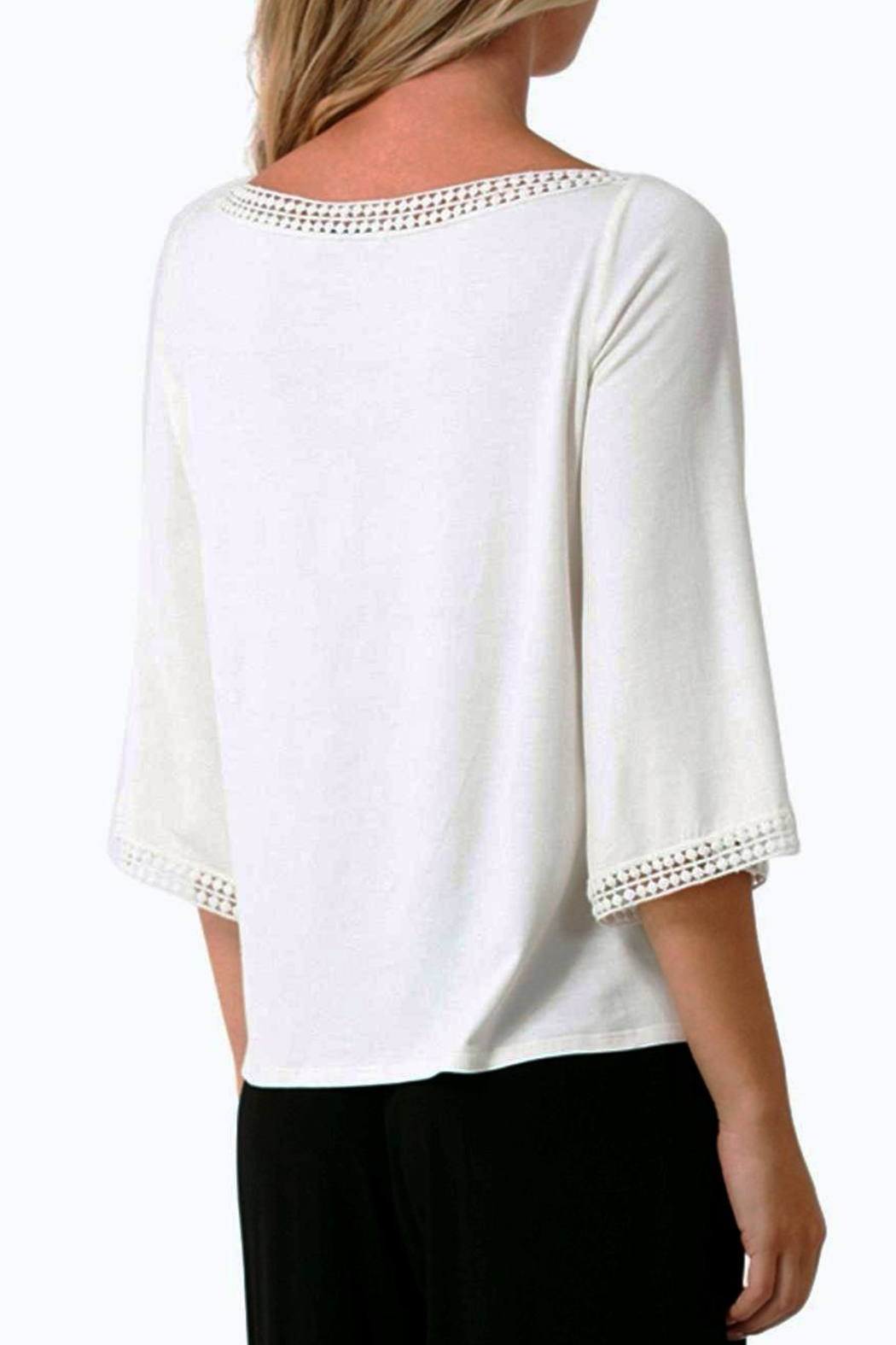 Hale Bob Naoko Crocheted Lace Blouse - Front Full Image