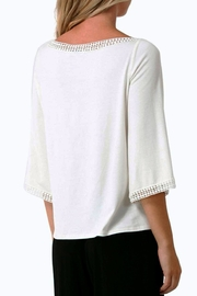 Hale Bob Naoko Crocheted Lace Blouse - Front full body