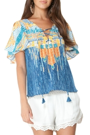 Hale Bob Silk Colorful Blouse - Product Mini Image