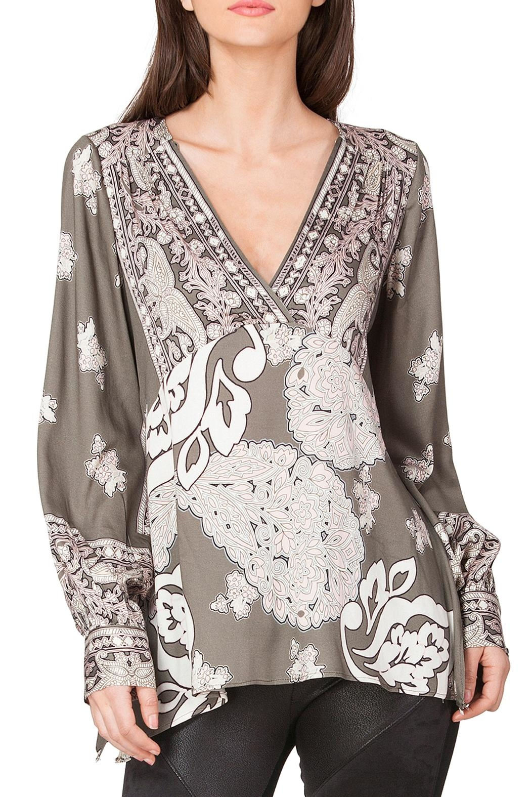 Hale Bob Viviana Satin Tunic Top - Main Image