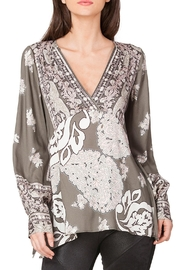 Hale Bob Viviana Satin Tunic Top - Front cropped
