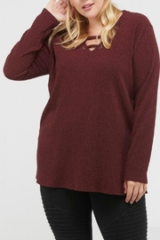Mittoshop Haley Burgundy Sweater - Product Mini Image