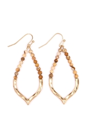 Riah Fashion Half-Beaded Marquise Earrings - Product Mini Image