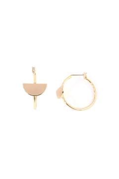 Riah Fashion Half-Disc Hoop Earring - Product List Image