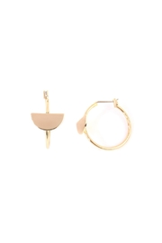 Riah Fashion Half-Disc Hoop Earring - Product Mini Image