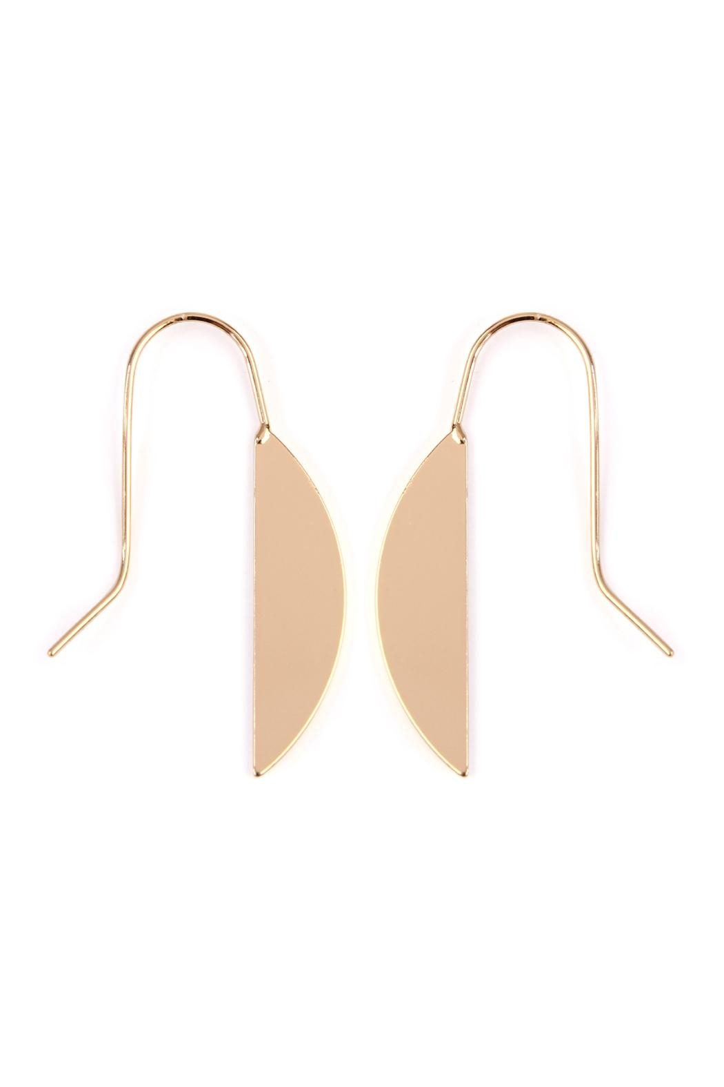 Riah Fashion Half-Leaf Threader Earrings - Main Image