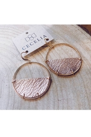 Cecelia Designs Jewelry Half Moon Leather Earrings - Product Mini Image