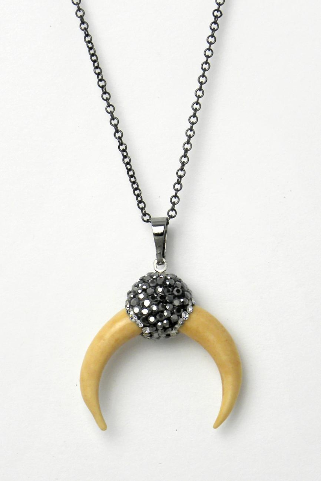 Baggis Accesorios Half Moon Necklace - Front Cropped Image