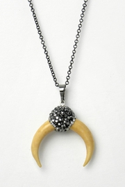 Baggis Accesorios Half Moon Necklace - Front cropped