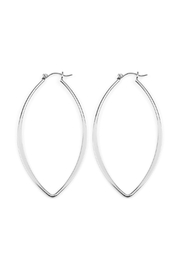 Riah Fashion Half-Pinched Eye-Shaped Wire-Earrings - Product Mini Image