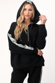 Dance and Marvel Half Zip Hoodie with Snake Skin Stripe - Product Mini Image