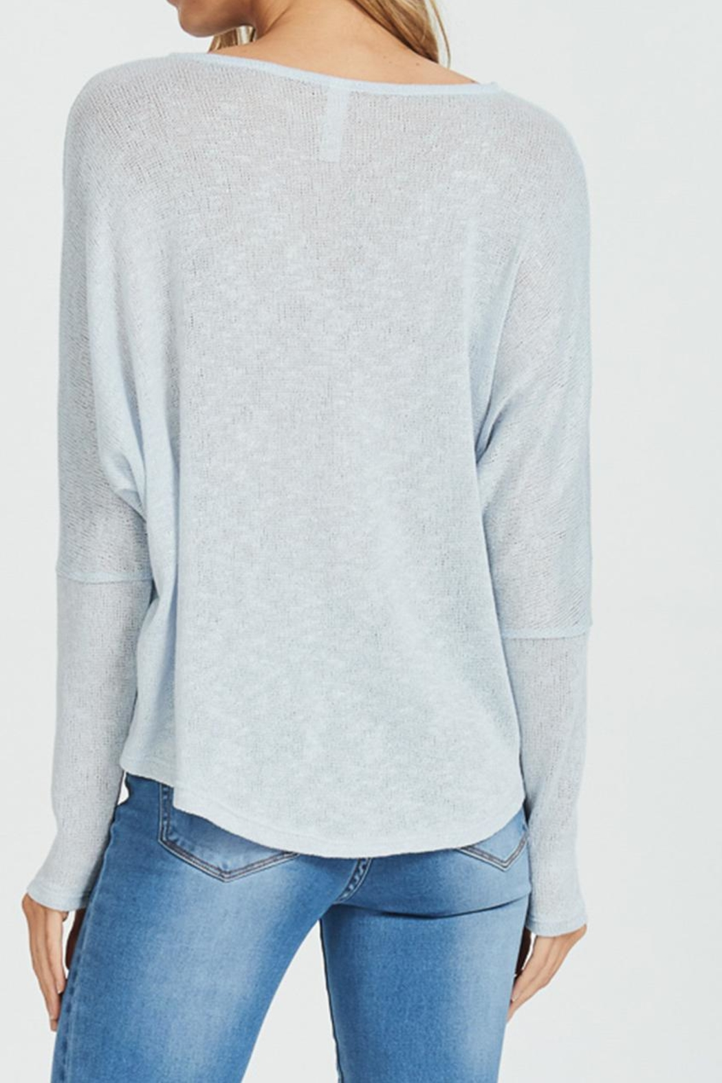 Jolie Half Zip Sweater - Back Cropped Image
