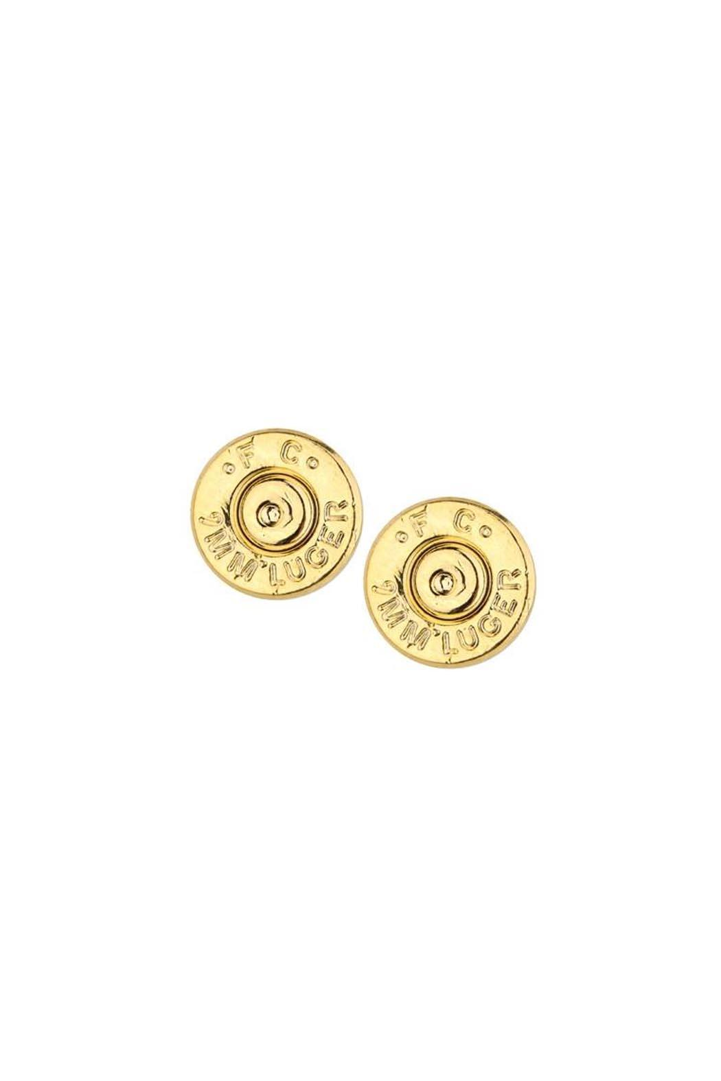 Half United Bullet Stud Earrings - Front Cropped Image